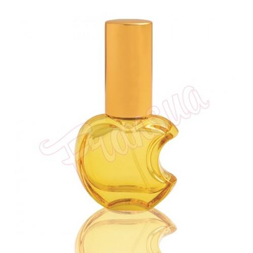 Флакон Эпл 15 мл стеклянный желтый с металическим спреем