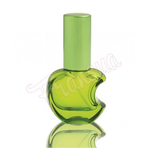 Флакон Эпл 15 мл стеклянный зеленый с металическим спреем