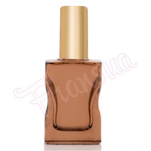 Флакон Да Винчи 30/35 мл. стеклянный коричневый с золотым металлическим спреем