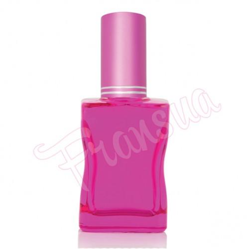 Флакон Да Винчи 30/35 мл. стеклянный розовый с металлическим спреем