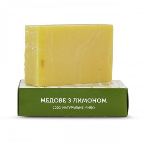 Мыло натуральное ручной работы Медовое с лимоном